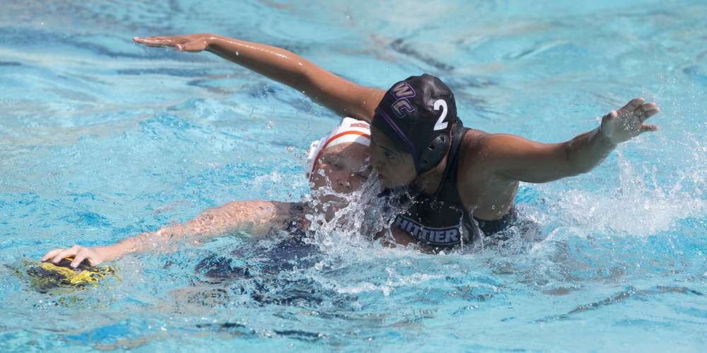 MAKING A SPLASH: Senior, attacker Zyania Morales was a tough defender for the Poets, as well as a leading scorer.