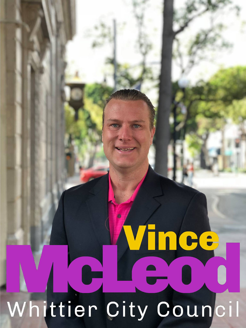 City Council candidate Vincent McLeod