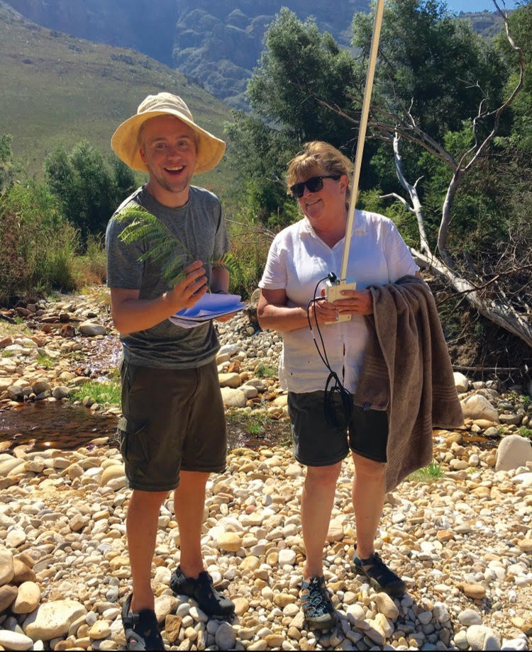 Trevor Tuma and Professor of Biology Cheryl Swift studied invasive species in South Africa during Tuma's second year at Whittier College.    Photo Courtesy of Trevor Tuma