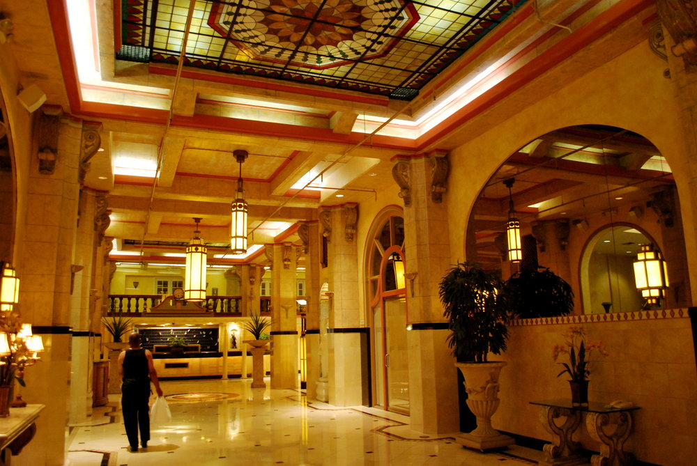 The Cecil's hauntingly beautiful lobby now.  COURTESY OF  KCET