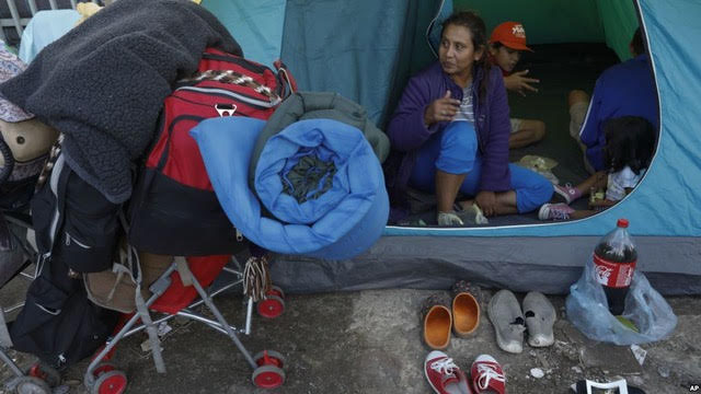 Migrant conditions at the border.  COURTESY OF  VOA NEWS