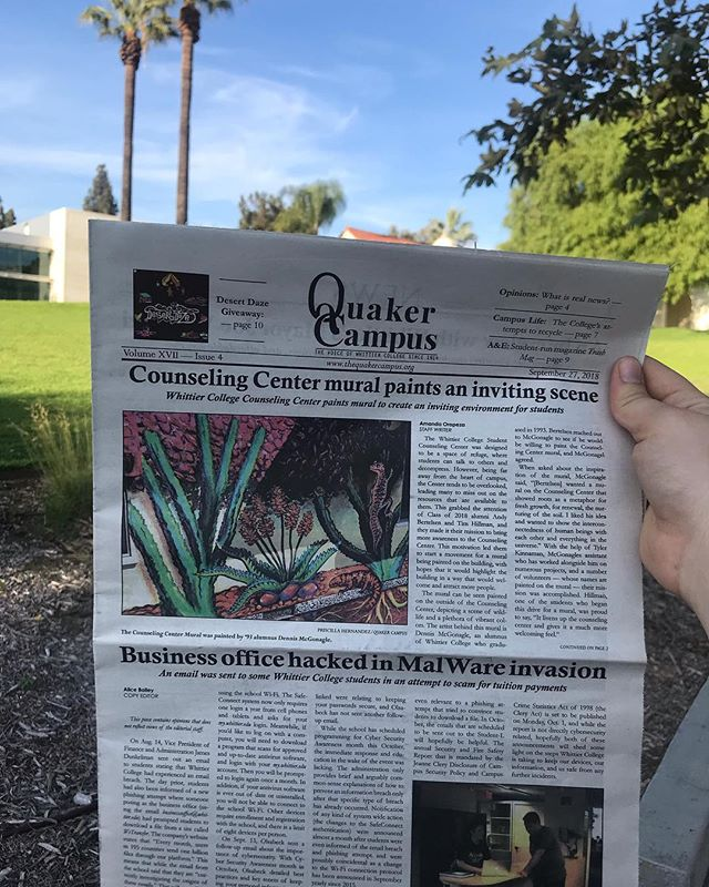 Happy Thursday! Pick up the QC to find out more about recycling on campus, music festival etiquette, and how the CI is handling allergens.