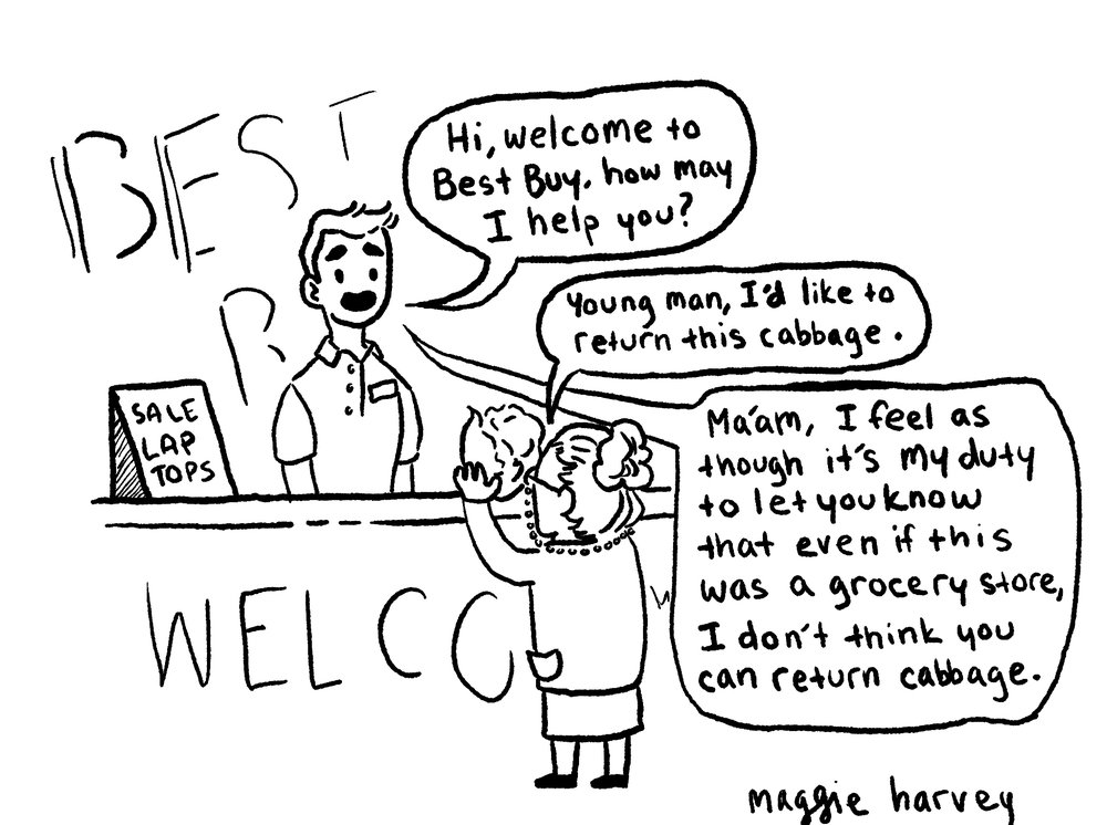 Customer service can be very taxing on the employee.  Maggie Harvey/ QUAKER CAMPUS