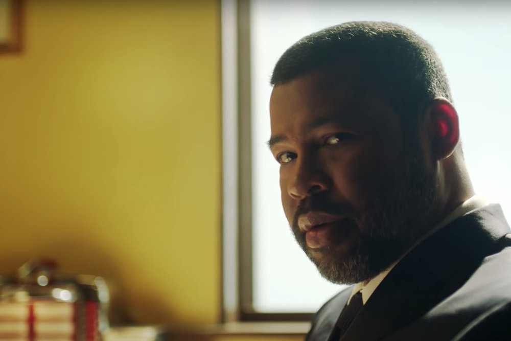 Jordan Peele briefly appeared in the   Twilight Zone   trailer.  COURTESY OF  THE VERGE