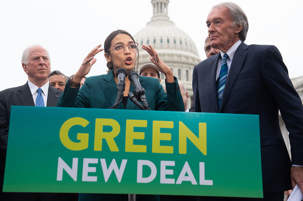 The Green New Deal makes the air cleaner, with an expected cost.  COURTESY OF  POLITICO