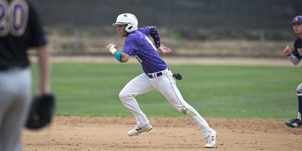 Fourth-year Outfielder Nick Krska is off and running.