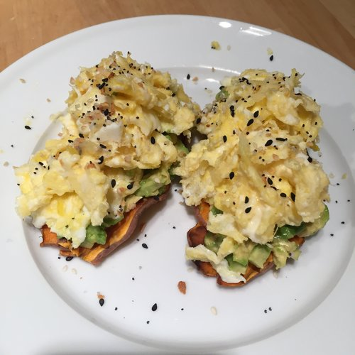 Sweet Potato Avocado Egg Toast