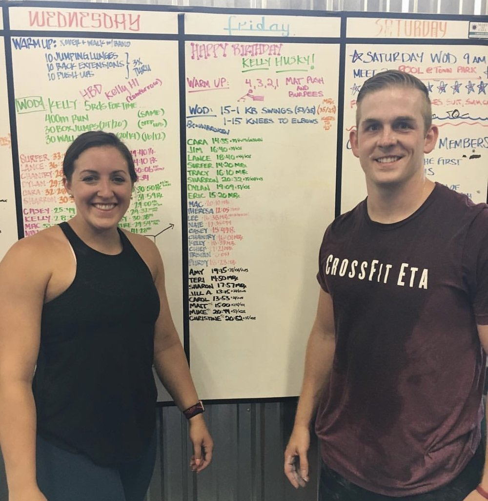 Christine & I dropping into CrossFit Telluride while in Colorado on vacation this summer.