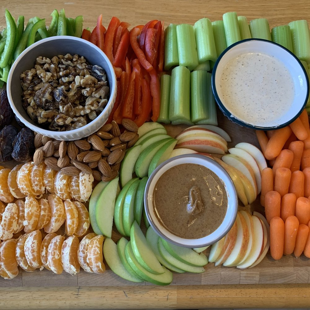 Veggie, Fruit and Nut Tray