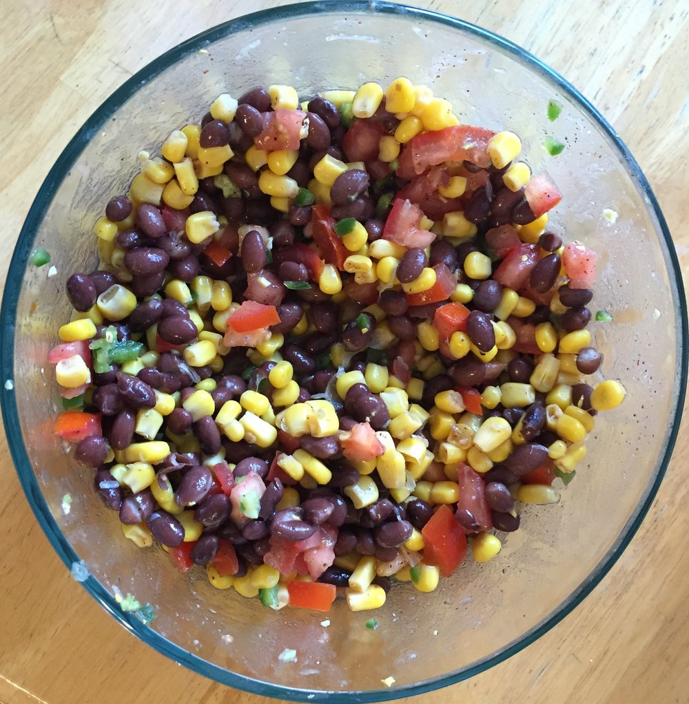 Pam's Corn & Bean Dip