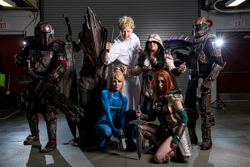 A small handful of the amazingly talented cosplayers at this year's Northern FanCon  by Christos Sagiorgis/Cvlt Stvdio