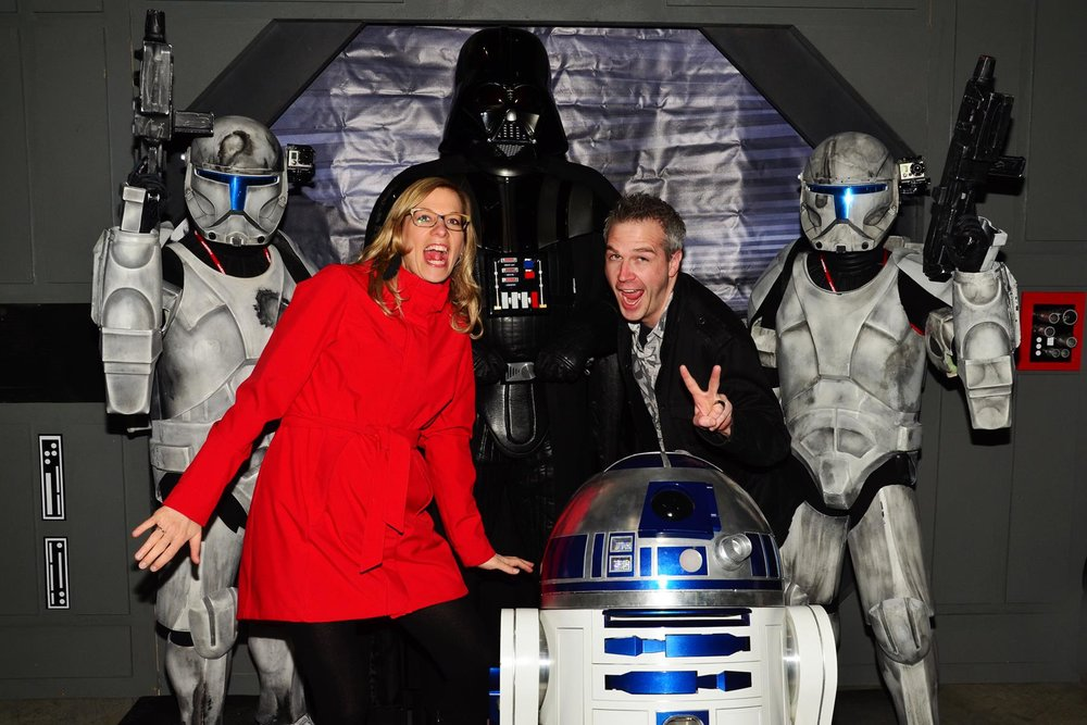 photo submitted: FanCon director Norm Coyne and wife Candice Manahan on an important fact finding mission at Calgary Expo