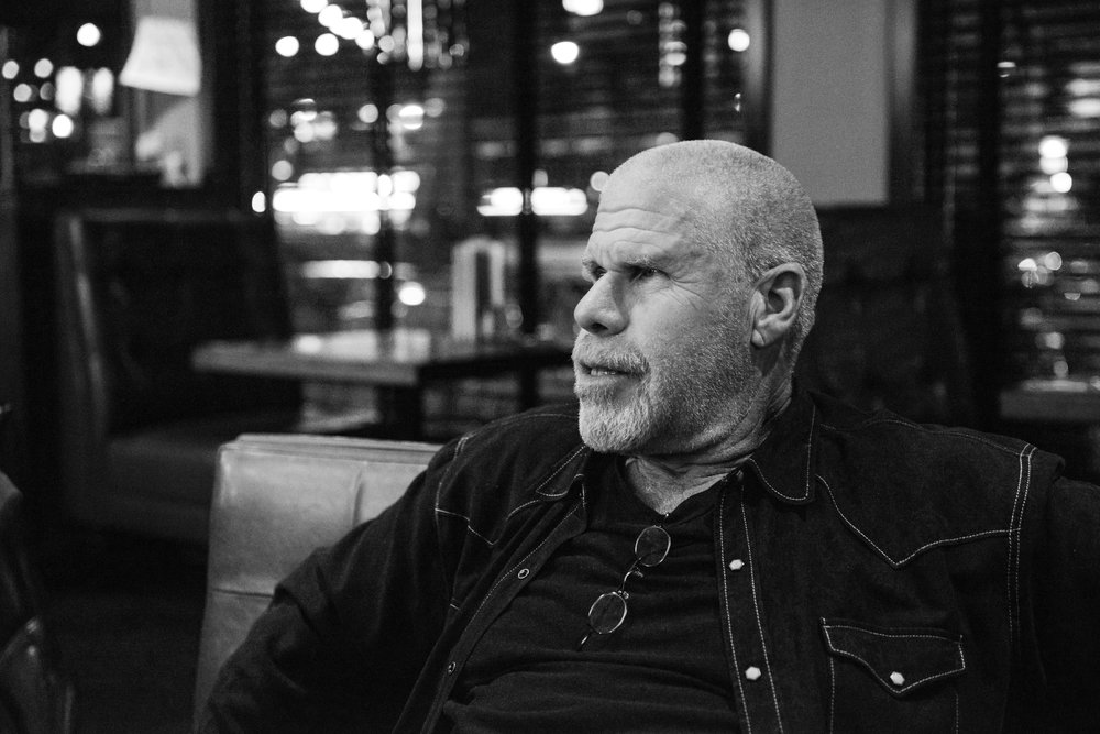 Sons of Anarchy & Hellboy star Ron Perlman on a 2014 visit to Prince George BC photo by Christos Sagiorgis