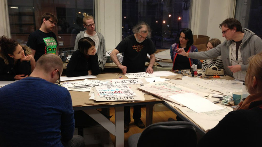 My strategy was to build the design community through events that connected people. - Calligraphy Workshop with Paul Shaw