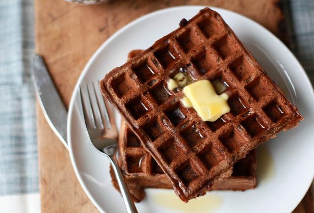 Chocolate Buttermilk Waffles — Honeycomb