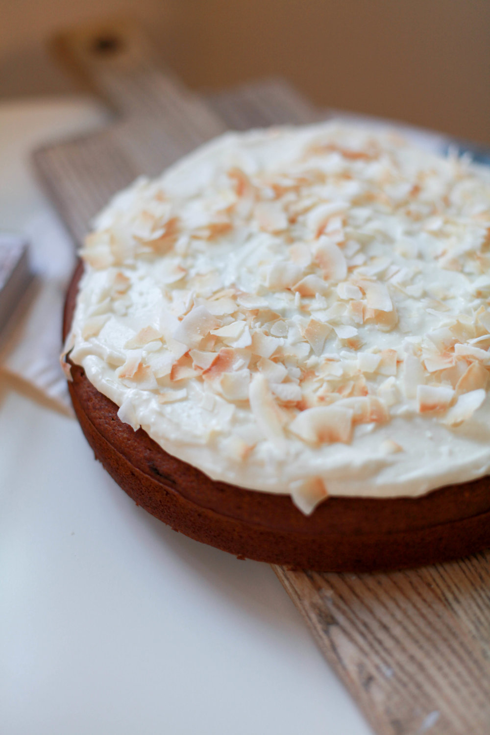 Applesauce Cake with Honey Cream Cheese Frosting - Makes one round cakeFrom Julia Turshen's Now and Again