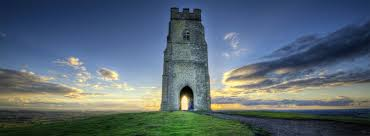 The Tor with Tower. Where the Michael/Mary Ley Line intertwines around the tor and flies up out of the tower into the Ancient lands of Avalon.