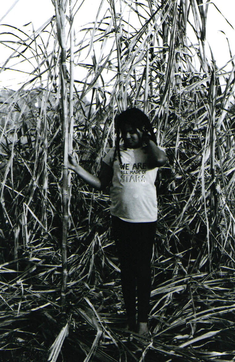 12.25.16 We Are All Made of Stars Scan of a 35mm black and white. Taken at my Grandmother's house in front of Grandpa's sugar cane.