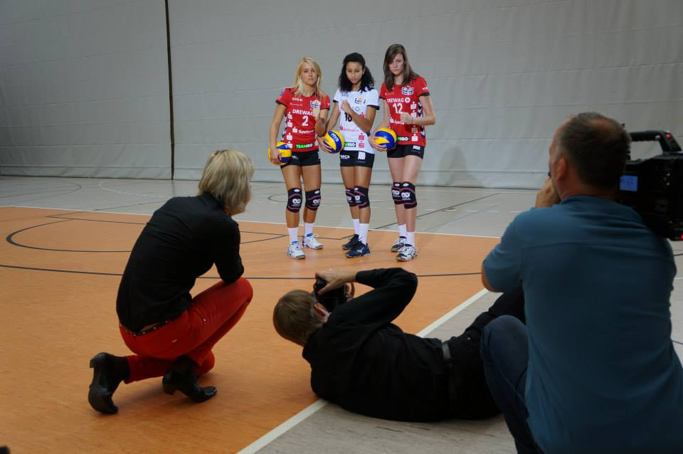 First professional contract in Dresden Germany and official photo shoot.