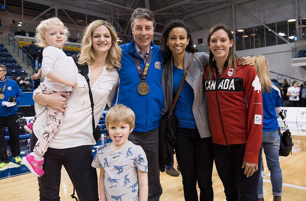 3 Generations of UBC players with coach Douglas Reimer. Emily Cordonier - Team Canada Captain , Jamie Broder - Rio 2016 Olympian.