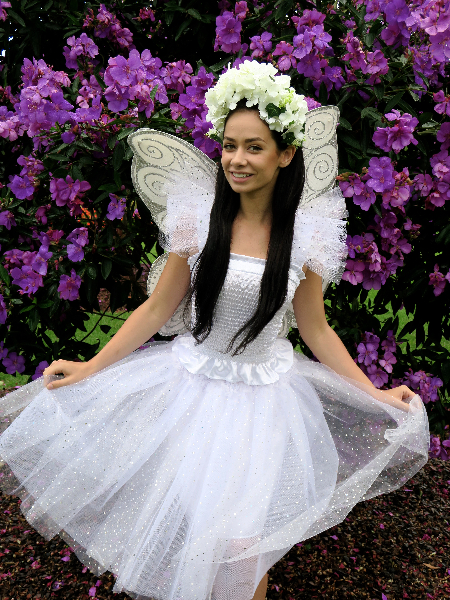 White snow fairy dress