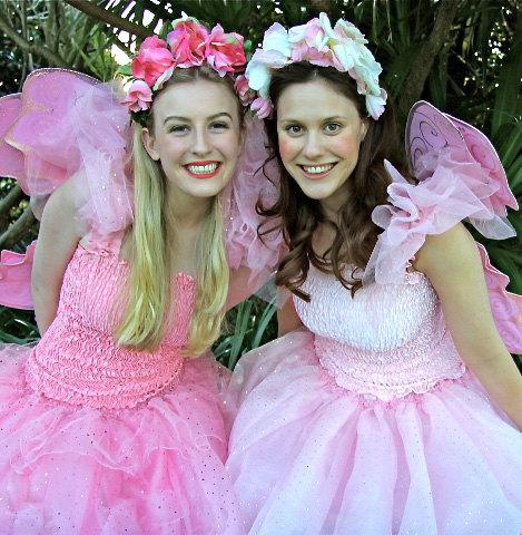Candy pink and pale pink fairy dresses