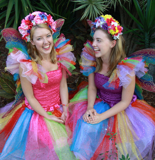 Rainbow sparkle fairy dresses