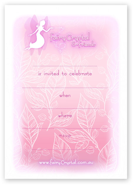 Click to open and print this Fairy themed invitation!
