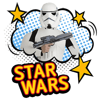 from a galaxy far, far away... - ...dark side or light we have:Stormtroopers, Luke Skywalker, Princess Leia, Kylo Ren and Rey, Ashoka Tano, Annakin and more!Browse STAR WARS characters!