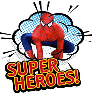 Choose a SUPERHERO character!