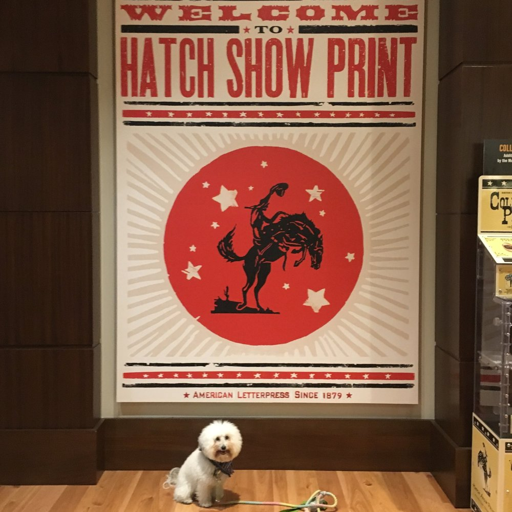 Watson by the Hatch Show Print sign in Nashville, TN | Watson & Walls