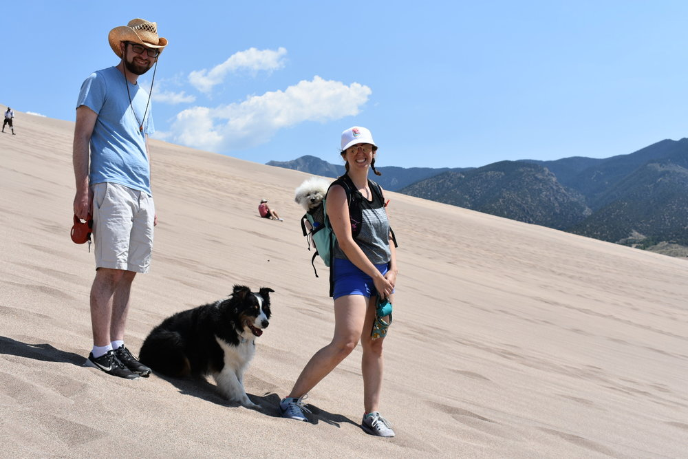 Watson and the family at Great Sand Dunes National Park | Watson & Walls