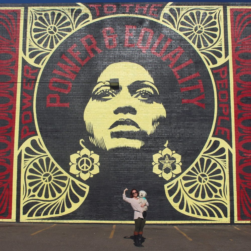 Power & Equality women's rights mural in Denver, CO | Watson & Walls
