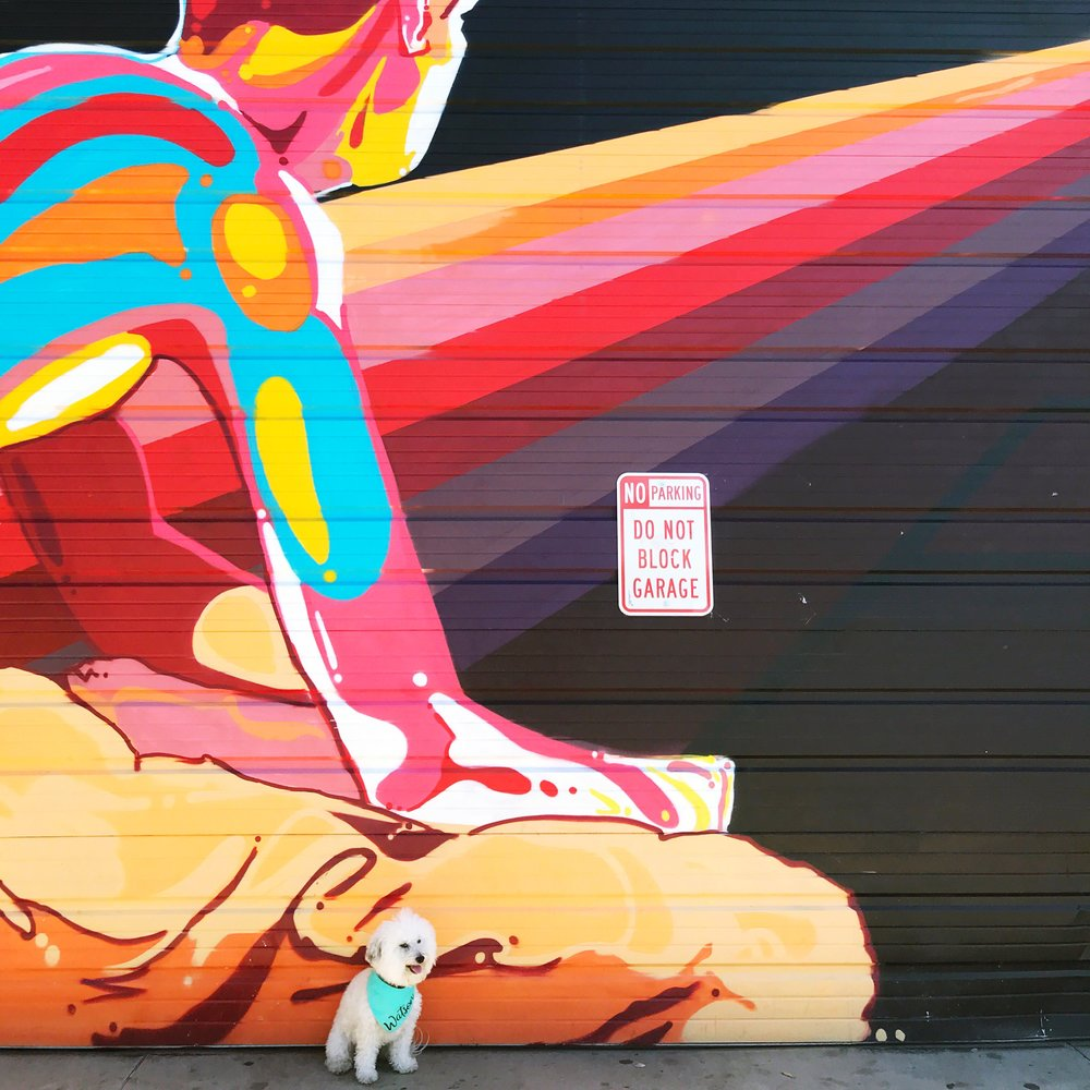 Prism neon mural in Denver, CO | Watson & Walls