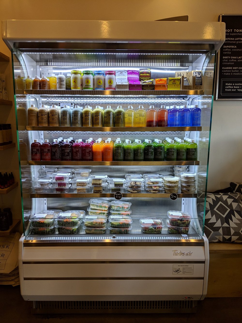 All the nut milk options at Local Juicery in Sedona, AZ | Watson & Walls
