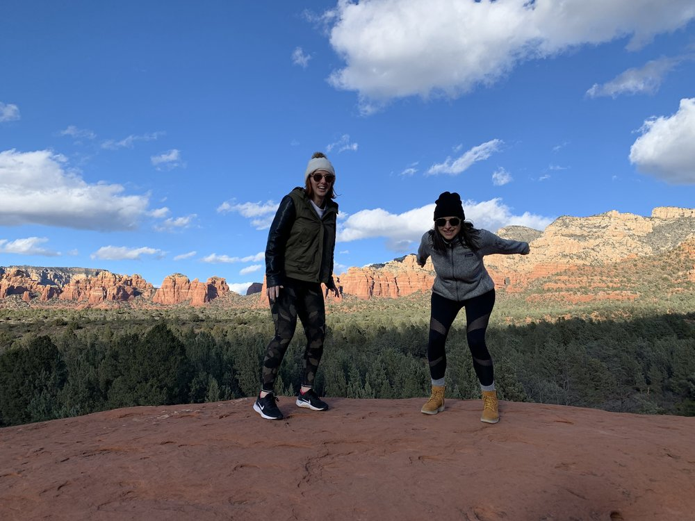 Jumping photos on the Pink Jeep Tour in Sedona, AZ | Watson & Walls