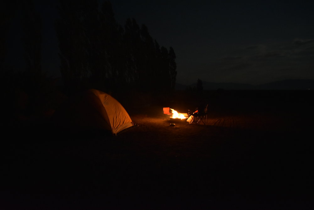 Camping fire at Great Sand Dunes National Park, Colorado | Watson & Walls