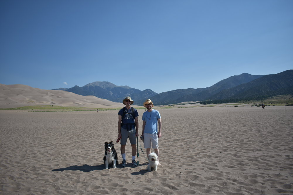 Watson with the family at Great Sand Dunes National Park, Colorado | Watson & Walls