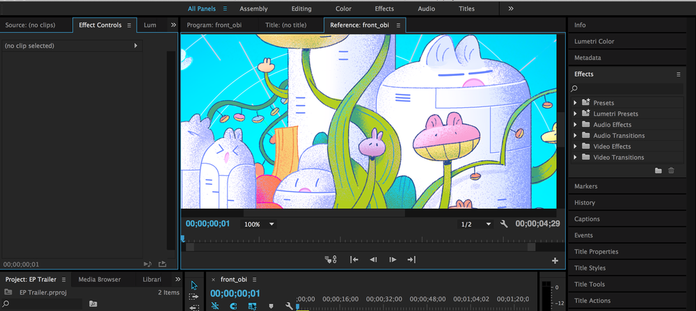 Screenshot of the Trailer [via Adobe Premiere]
