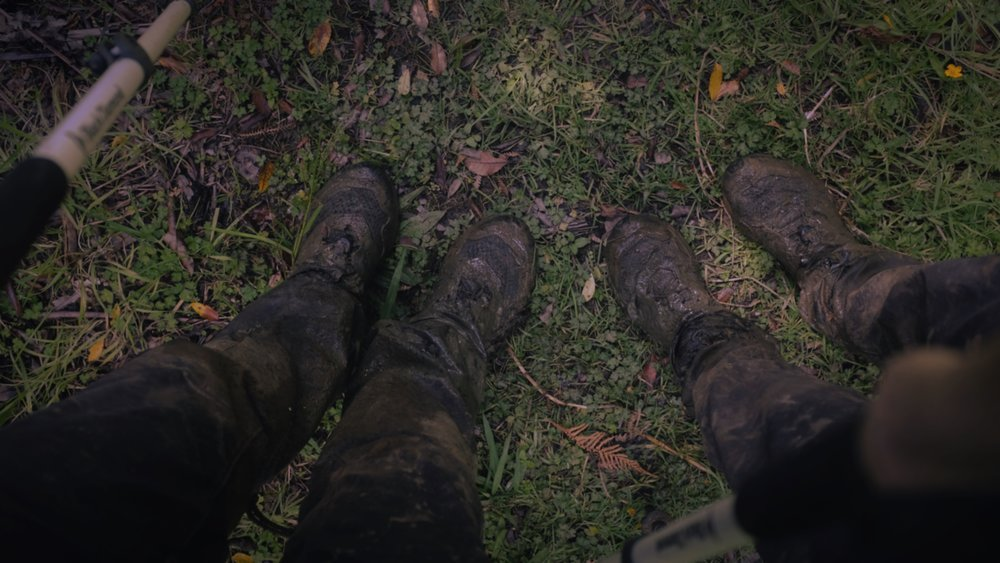 This is the least muddy our shoes were, usually you couldn't see them at all!