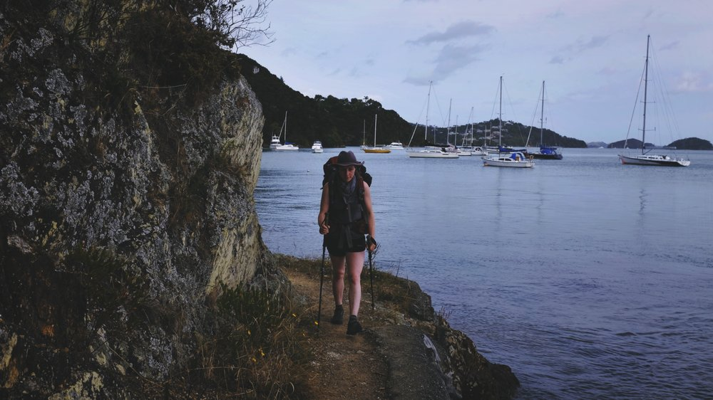 On the way to catch a boat in Opua