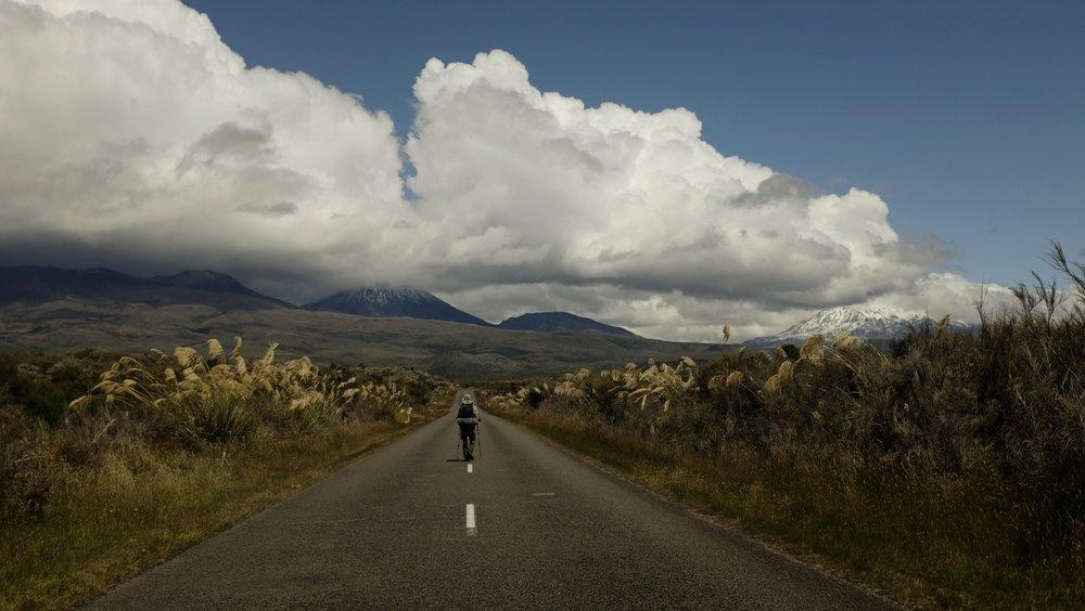 Entering Tongariro National Park.