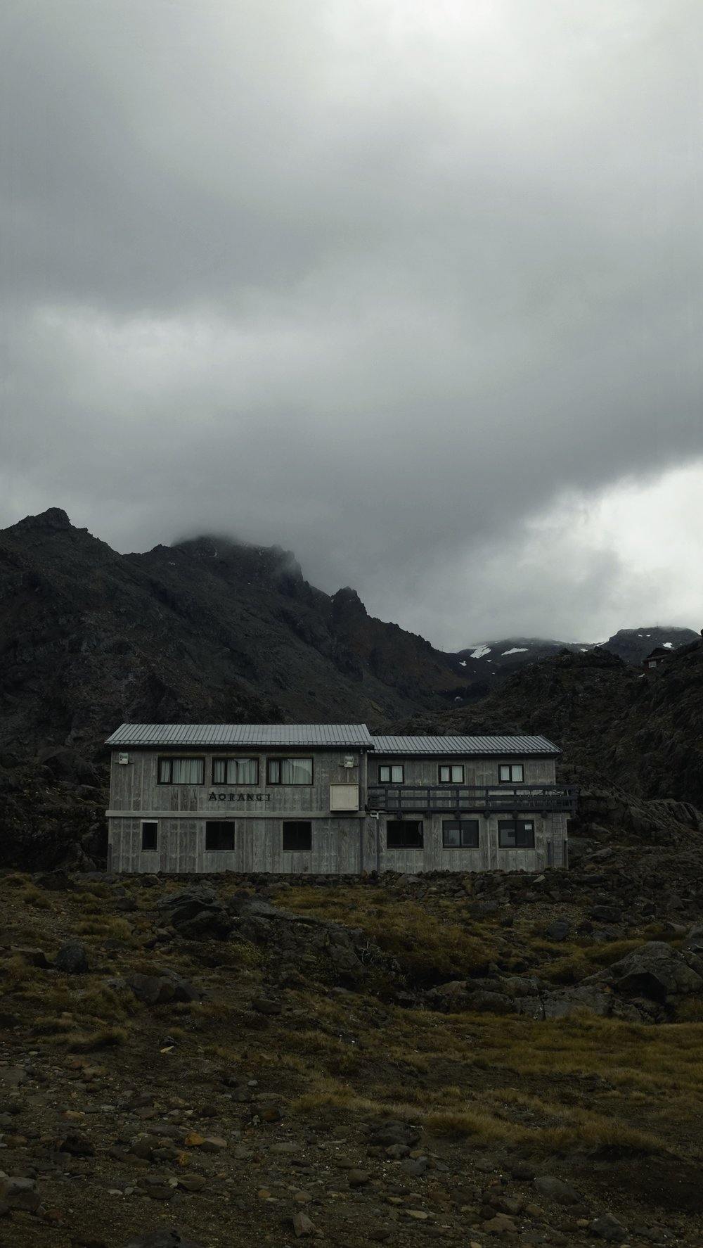 Waiting out the storm by visiting the slopes of Ruapehu.