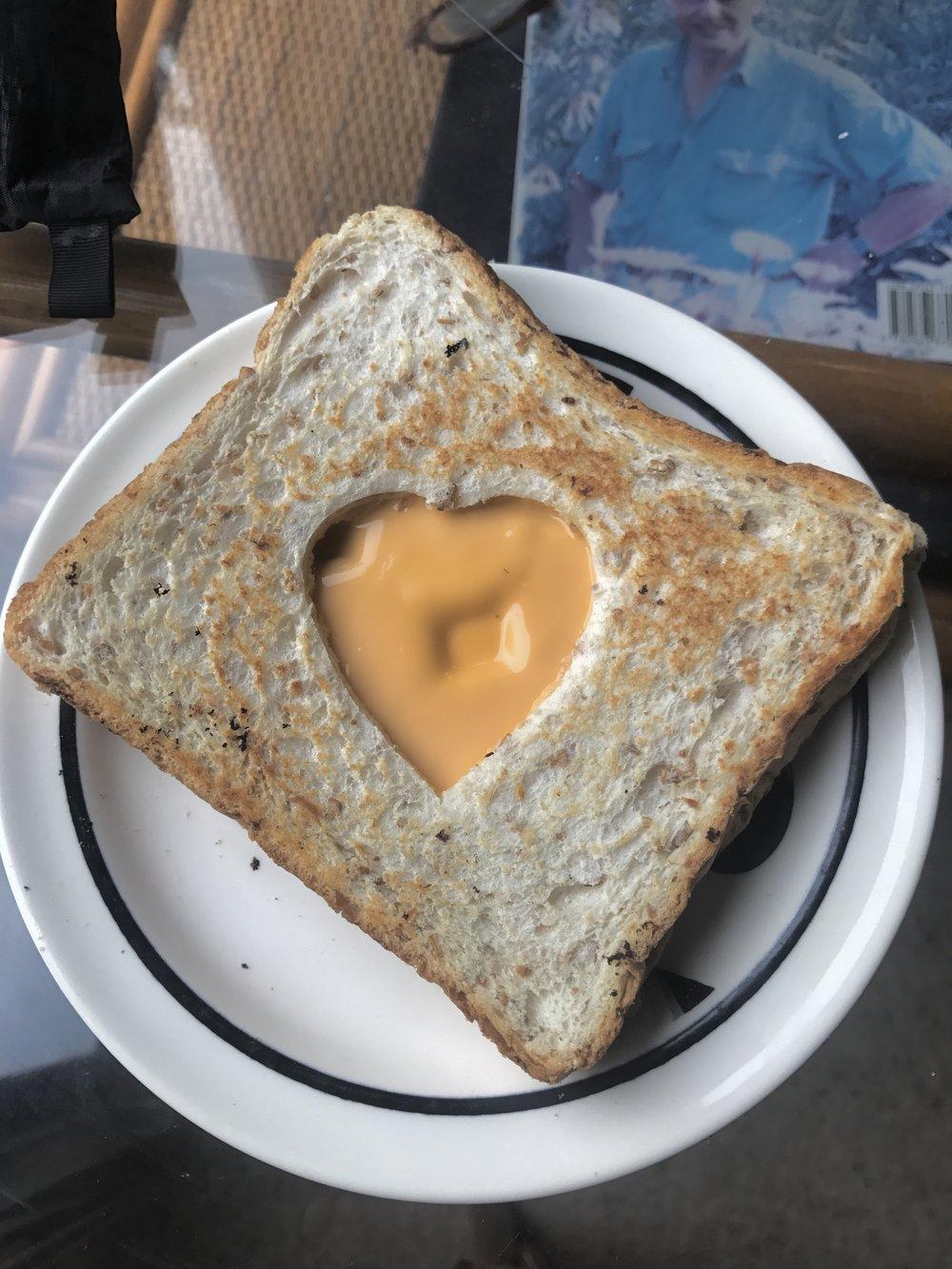 One strange sandwich.