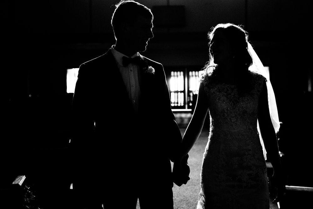 Couple, black & white, love, winter wedding