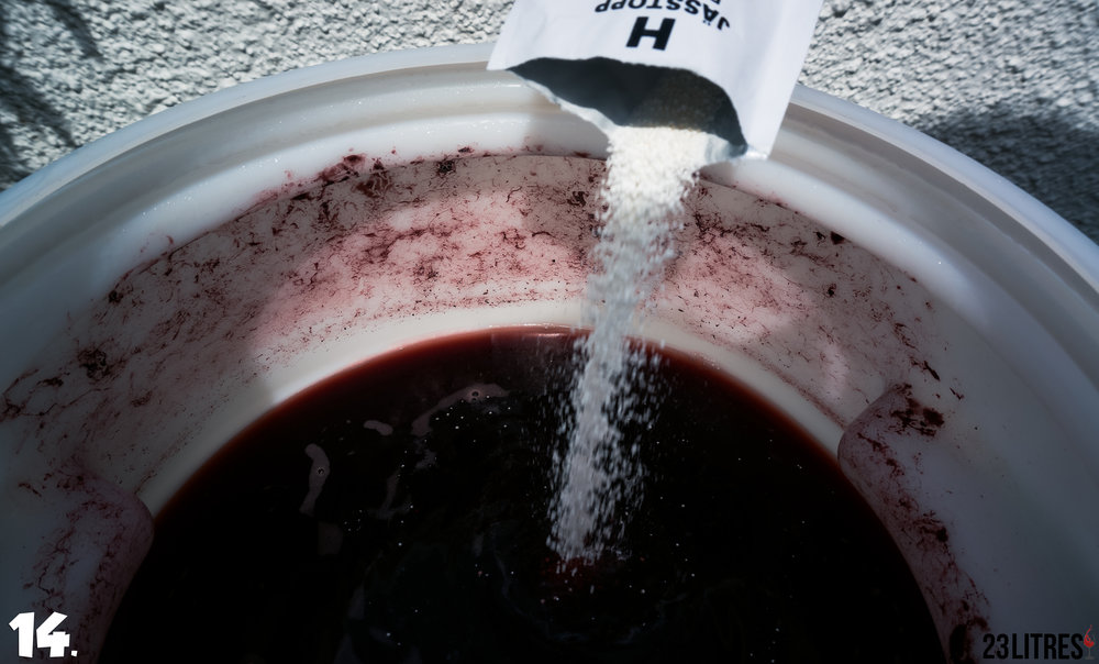 "Add sachet ""H"" into the fermenter."