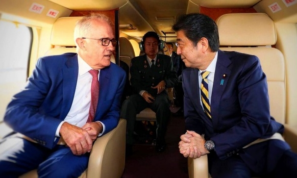 Turnbull, Abe's ambitious enlightenment project - Prime Ministers Turnbull and Abe hope to shield their unconventional nations from the global power shifts threatening the foundations of six decades of shared prosperity.