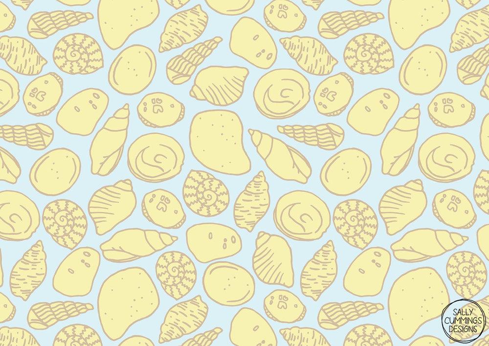 Tiny sea shells pattern