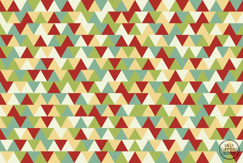 Christmas triangles pattern