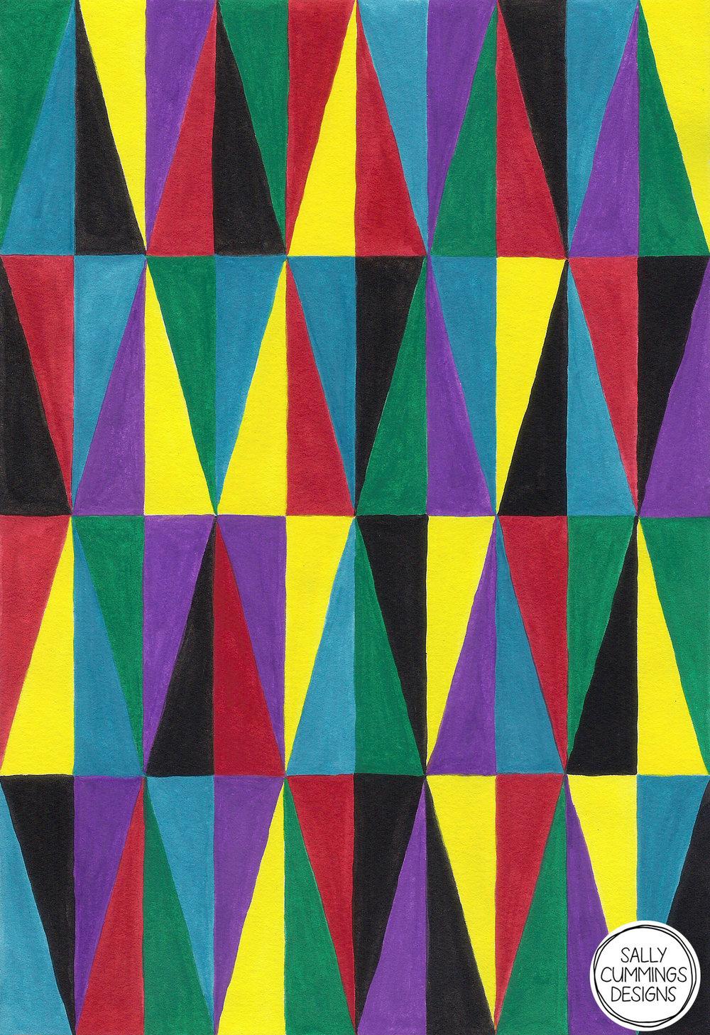 Sally Cummings Designs - Harlequin Pattern